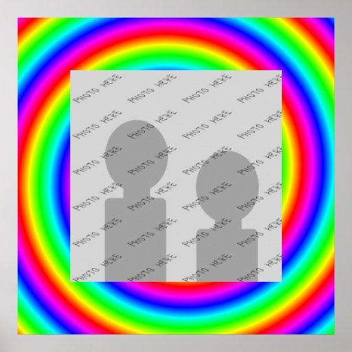 Colores del arco iris. Brillante y colorido. Foto  Impresiones