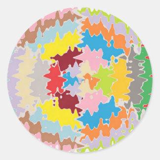 Colores del arco iris de EBR:  Balance energético Pegatina Redonda