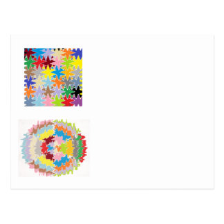 Colores del arco iris de EBR:  Balance energético Tarjetas Postales