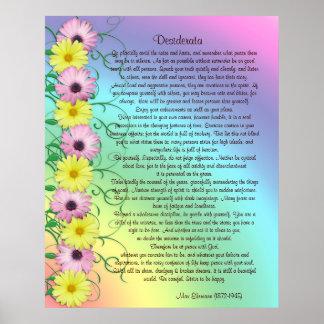 Colores del arco iris de la prosa de los desiderát poster
