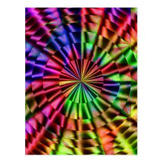 Colores del arco iris de Life_ Postal