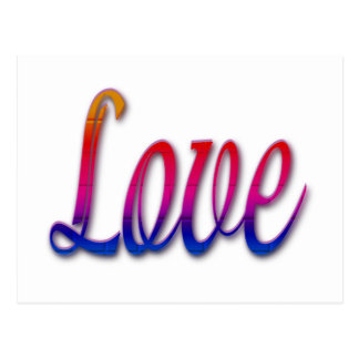 Colores del arco iris del amor postal
