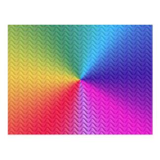 Colores del arco iris del modelo de Trival del zig Tarjetas Postales