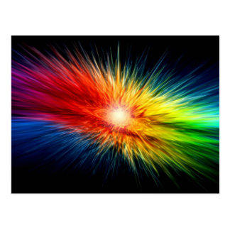 Colores del arco iris postal