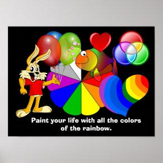 Colores del arco iris - poster