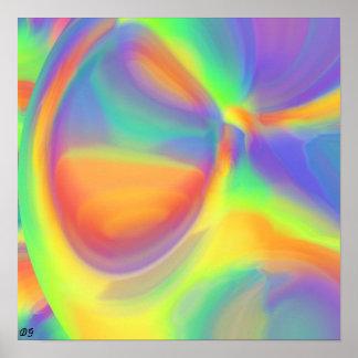 Colores del arco iris poster