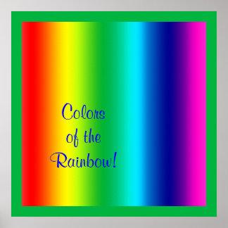 Colores del arco iris posters