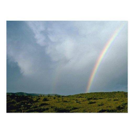 Colores del arco iris tarjetas postales