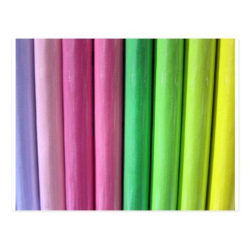 Colores del arco iris postales