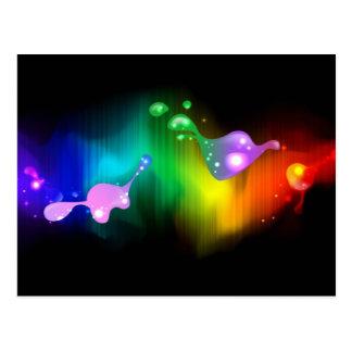 colores del arco iris tarjeta postal