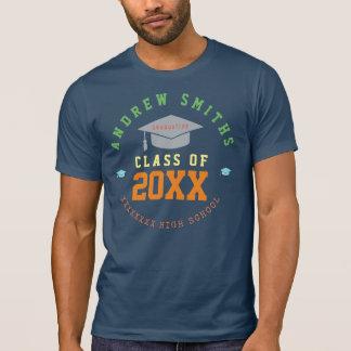 colores del curso de graduación camiseta