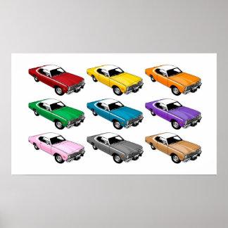 Colores del dardo de Dodge Póster