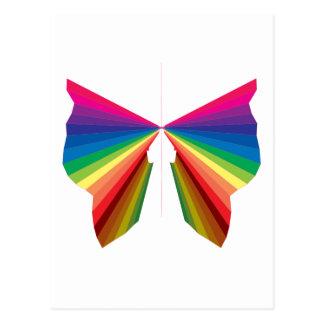 Colores del espectro del arco iris de la chispa postal