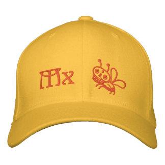 Colores del gorra de la polilla de la muerte de la gorra de béisbol bordada