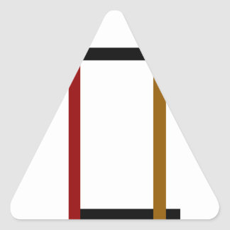 Colores del gráfico 3 pegatina triangular