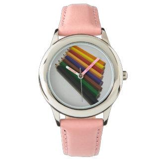 Colores del lápiz relojes de mano