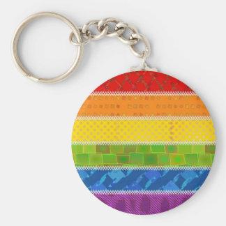 Colores del orgullo gay llavero redondo tipo chapa