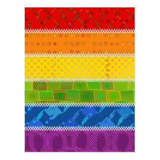Colores del orgullo gay postal
