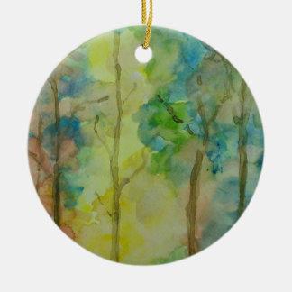 Colores del otoño adorno de cerámica