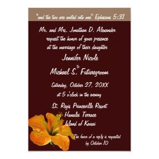 Colores del otoño del boda de la caída: Dos se Invitación 12,7 X 17,8 Cm