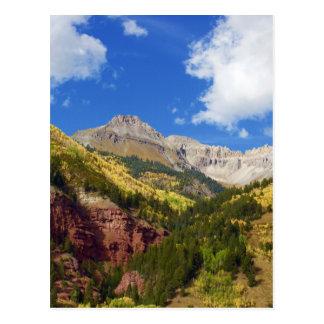 Colores del otoño del valle del telururo postal