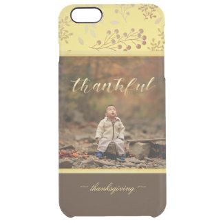 Colores del otoño, foto agradecida funda transparente para iPhone 6 plus