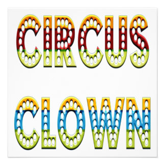 Colores del payaso de circo comunicado