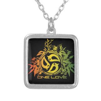 Colores del rasta del collar, un amor, león del ju colgante cuadrado