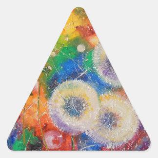 Colores del verano pegatina triangular