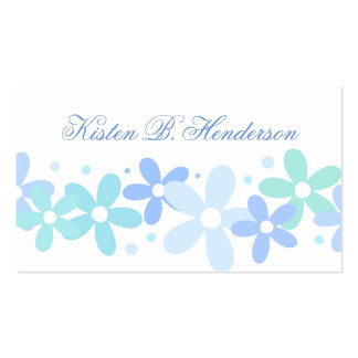 Colores en colores pastel femeninos tarjetas de visita