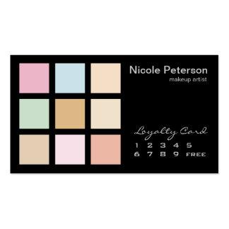 colores en colores pastel finos modernos tarjetas de visita