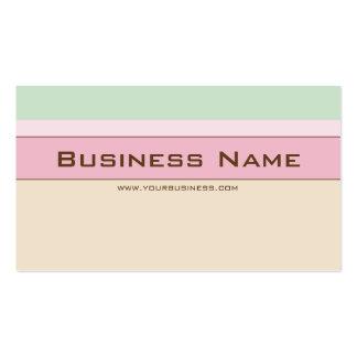 Colores en colores pastel tarjetas de visita