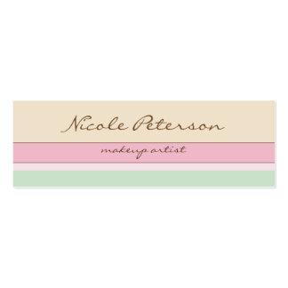 Colores en colores pastel tarjetas de visita mini