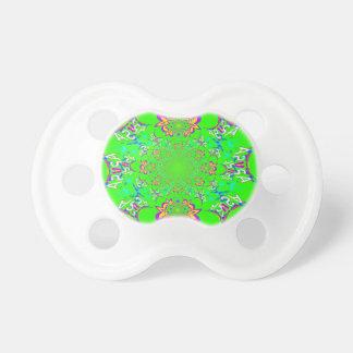 Colores florales brillantes coloridos del diseño chupetes de bebe