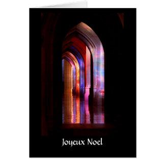Colores gloriosos de la catedral - tarjeta de