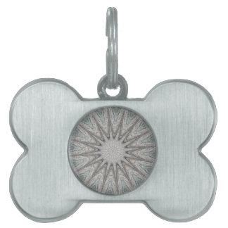 Colores grises claros rústicos del diseño del placa para mascotas