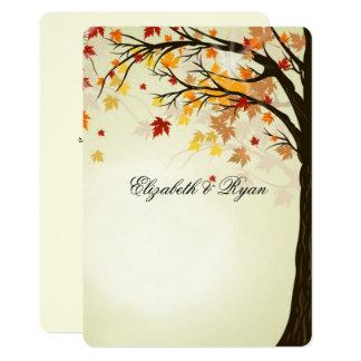 Colores hermosos de la caída, boda del otoño invitación 12,7 x 17,8 cm
