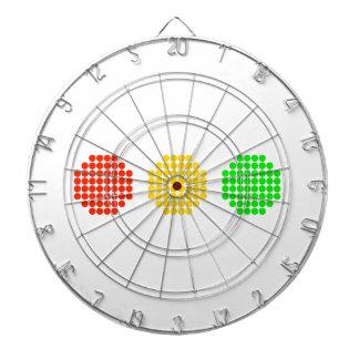 Colores horizontales de la luz de parada del punto diana
