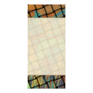 Colores intrépidos en la armadura plantilla de lona