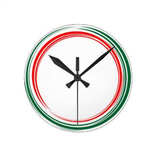 Colores italianos de la bandera del reloj del
