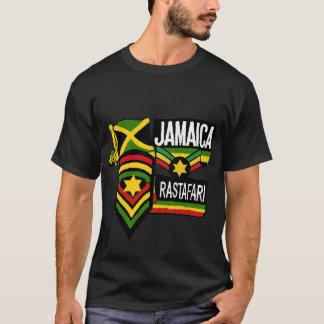 Colores negros de Rastafarian de la camiseta de