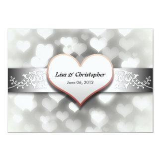colores negros grises blancos elegantes que casan invitación 12,7 x 17,8 cm