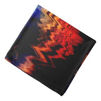 Colores ondulados del modelo abstracto bandanas