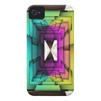 Colores ópticos del arco iris carcasa para iPhone 4