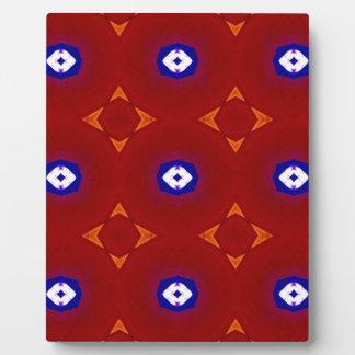 Colores patrióticos azules blancos rojos del placa expositora