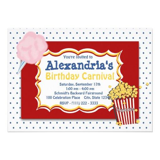 Colores primarios del cumpleaños del carnaval invitaciones personalizada