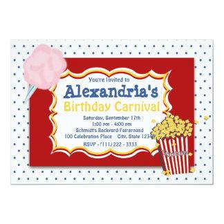 Colores primarios del cumpleaños del carnaval invitación 12,7 x 17,8 cm
