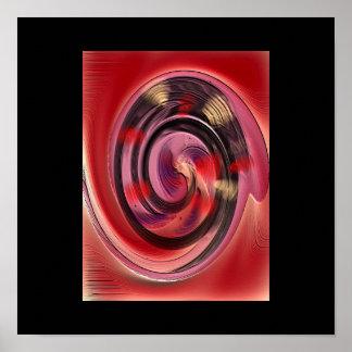 Colores que hacen girar el poster del arte