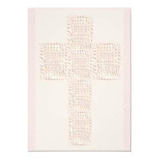 Colores suaves cruzados santos invitación 12,7 x 17,8 cm