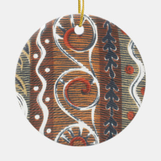 Colores tradicionales del vintage africano de adorno redondo de cerámica